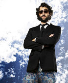 Ridiculous business man — Stock Photo