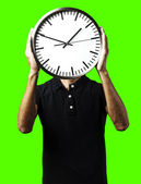 Man with clock — Foto Stock