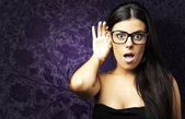 Young woman gesturing — Stock Photo