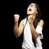 Young woman shouting — Stock Photo