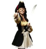 Pirate woman — Foto de Stock