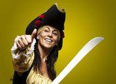 Donna pirata — Foto Stock