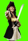 Mujer pirata — Foto de Stock