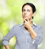 Woman pensive portrait — Stock Photo