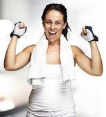 Woman winning — Stock Photo