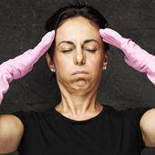 Woman headache — Stock Photo
