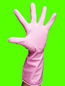 Pembe eldivenleri — Stok fotoğraf