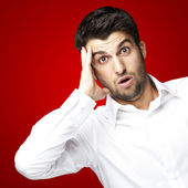 Young man surprised — Stock Photo