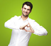 Man gesturing heart — Stock Photo
