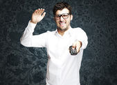 Angry young man — Stock Photo