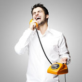 Man talking — Stockfoto