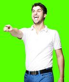 Man pointing and joking — Stock Photo