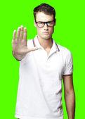 Man stop symbol — Stock Photo