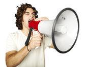 Young man shouting — Stock Photo