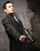Mafia man killing — Stock Photo