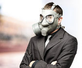 Business man with mask — Stock Photo