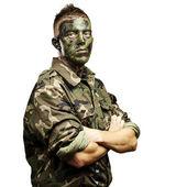 Portrait de jeune soldat — Photo