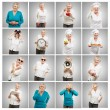 Series Of Senior Adult Woman — Stock Photo