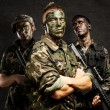 Stock Photo: Soldiers group