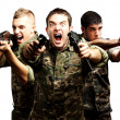 Tree soldiers aiming — Stock Photo #10180289