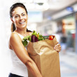 Stock Photo: Woman with purchase