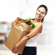 Woman with purchase — Stock Photo #10180741