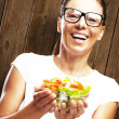 Royalty-Free Stock Photo: Woman with salad