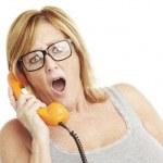 Woman talking — Stock Photo