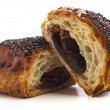 Chocolate bun — Stock Photo