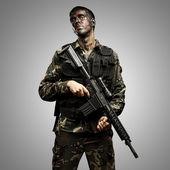 Soldat posant — Photo