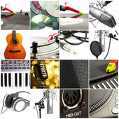 Group of music objects — Stock Photo