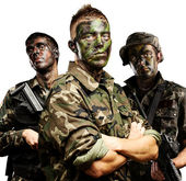 Soldiers group — Stock Photo