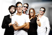 Young friends group — Stock Photo