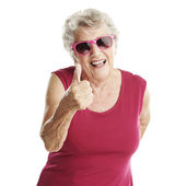 Senior woman approve — Stock Photo