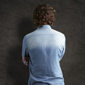 Back side view of man — Stock Photo