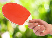Ping pong racket — Stock Photo