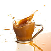 Coffee splashing — Stock Photo