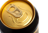 Golden tin can — Stock Photo