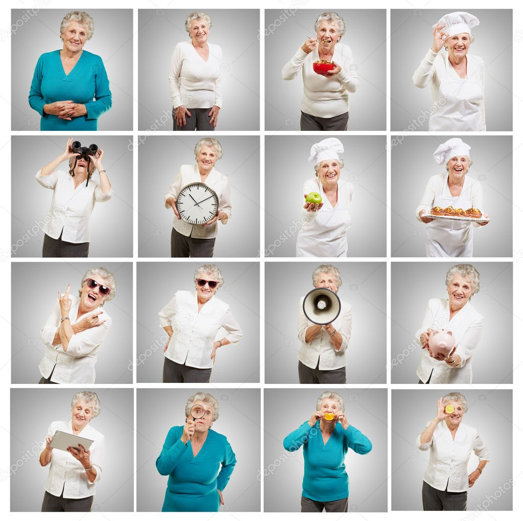 Series Of Attractive Senior Adult Woman  Stock Photo #10180078