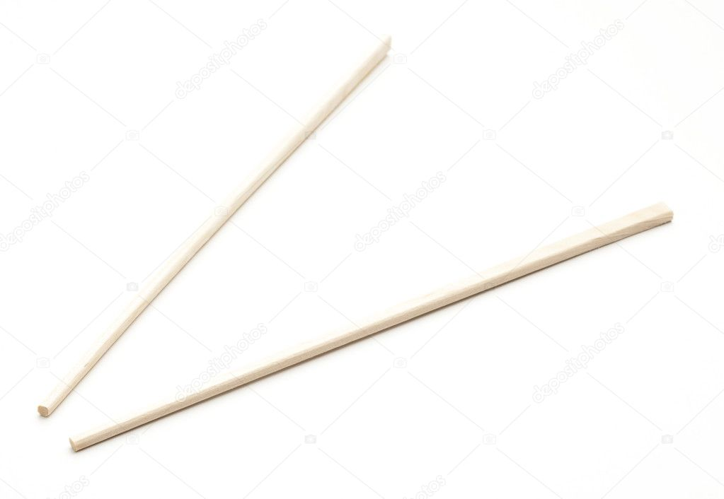 Wooden chopstick isolated on a white background — Stock Photo #10186788