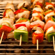 Brochette grill — Stock Photo