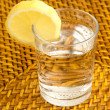 Glass and lemon — Stock Photo