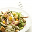 Fork and salad - Stock Photo