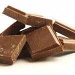 Chocolate pieces — Stock Photo