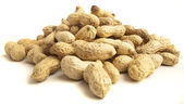 Peanut stack — Stock Photo