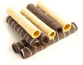 Chocolate tubes — Stock Photo