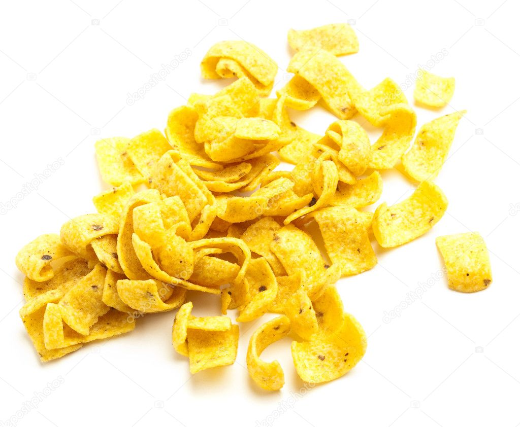 Potato chips isolated on a white background  Stock Photo #10194915