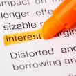 Interest def — Stock Photo