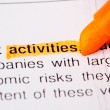 Activities word — Stock Photo