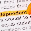 Independent word — Stock Photo